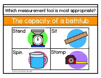 2.MD.1 - Measurement - Choose the Appropriate Tool Movement Game
