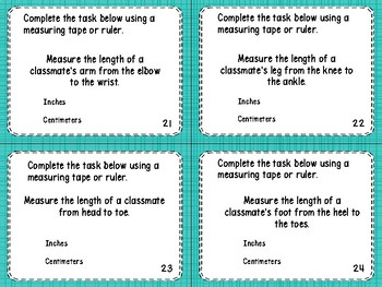 2.MD.1- Measuring with Appropriate Tools Task Cards