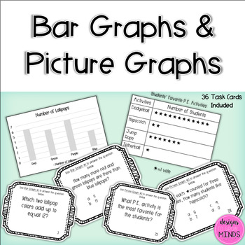 2.MD.10 Task Cards- Bar Graphs and Picture Graphs