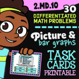 """Picture Graphs & Bar Graphs ✦ 2nd Grade Google Classroom"""" ✦ 2.MD.10 Task Cards"""