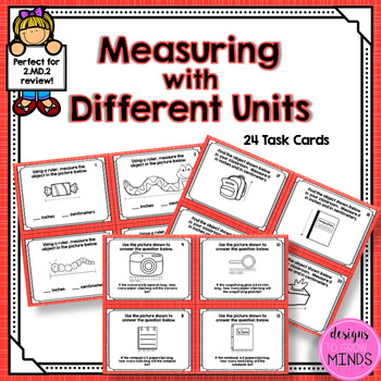 2.MD.2- Measuring with Different Units Task Cards