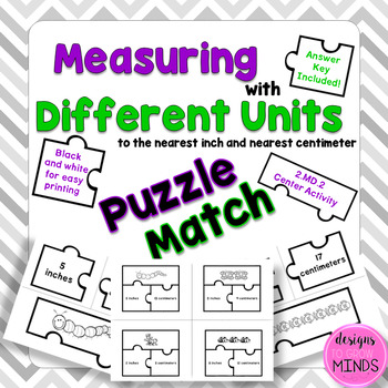 2.MD.2 Puzzle Matching Activity