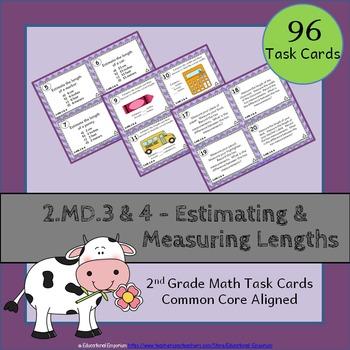2.MD.3 & 2.MD.4 Task Cards: Estimating & Measuring Lengths Task Cards 2MD3, 2MD4