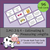 2.MD.3 Task Cards 2.MD.4 ⭐ Estimating and Measuring Lengths - Centers