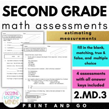 2.MD.3 Assessments- Estimating Measurements