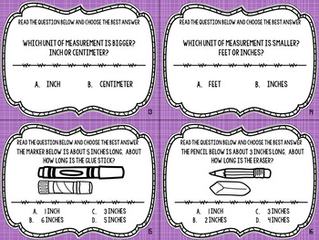 2.MD.3 Task Cards- Estimating Measurements