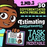 2.MD.3 Task Cards ✦ Measuring & Estimating Length ✦ 2nd Grade Google Classroom™