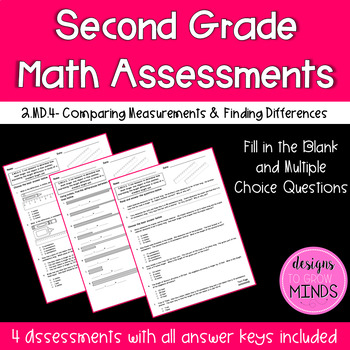 2.MD.4 Assessments- Comparing Measurements & Finding Differences