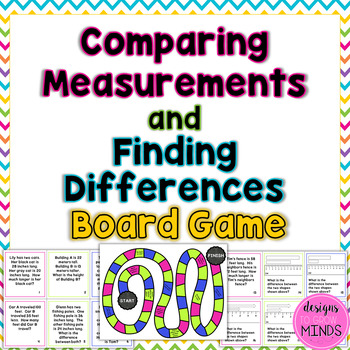2.MD.4 Board Game- Comparing Measurements and Finding Differences