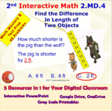 2.MD.4 Math Interactive Test Prep: Measure Objects Two Way