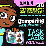 """2.MD.4 Task Cards ✦ Length: Comparing Measurements ✦ 2nd Grade Google Classroom"""""""
