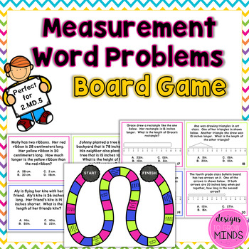 2.MD.5 Board Game- Measurement Word Problems