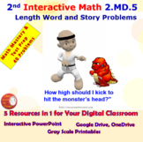 2.MD.5 Math Interactive Test Prep: Length Story Problems i