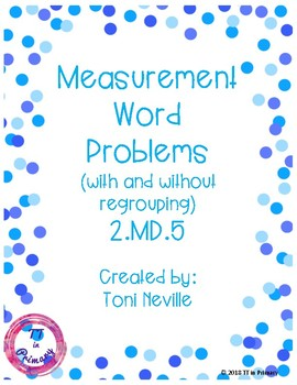 2.MD.5 Measurement Word Problems within 100