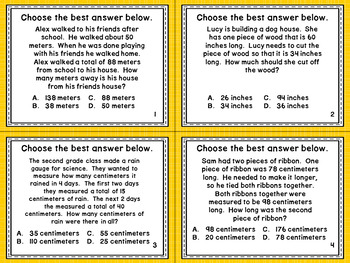 2.MD.5 Task Cards- Measurement Word Problems