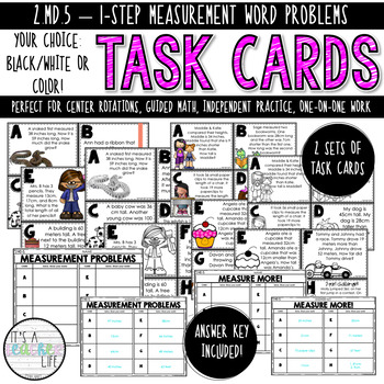 2.MD.5 Task Cards | Measurement Word Problems