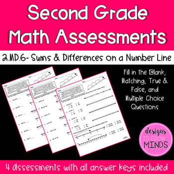 2.MD.6 Assessments- Sums & Differences on a Number Line