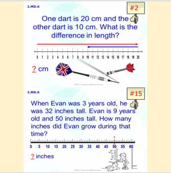 2.MD.6 Math Interactive Test Prep – 5 Resources in 1: Mastering Number Lines