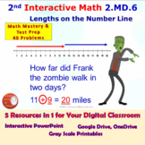 2.MD.6 Math Interactive Test Prep: Mastering Number Lines in 3 Formats