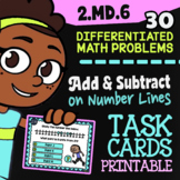 """2.MD.6 Task Cards ✦ Adding & Subtracting On a Number Line ✦ Google Classroom"""""""