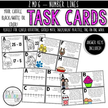 2.MD.6 Task Cards | Number Lines