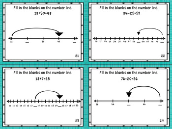 2.MD.6 Task Cards- Sums & Differences on a Number Line