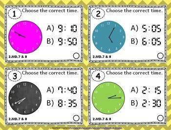2.MD.7 & 2.MD.8 Task Cards: Time & Money Task Cards 2MD7, 2MD8: Time Task Cards