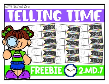 2.MD.7 - FREEBIE - Telling Time Game