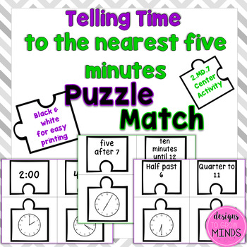 2.MD.7 Puzzle Matching Activity- Telling Time