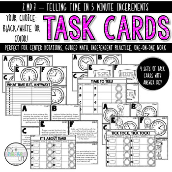 2.MD.7 Task Cards | Telling Time