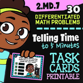 2.MD.7 Task Cards ✦ Telling Time to 5 Minutes ✦ 2nd Grade Google Classroom""
