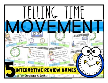 2.MD.7 - Telling Time - FIVE Movement Games
