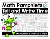 2.MD.7 - Telling Time - a.m. OR p.m. Pamphlets