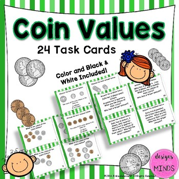 2.MD.8 Task Cards- Coin Values