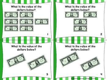 2.MD.8 Task Cards- Dollar Bill Values