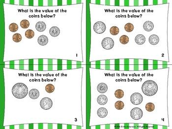 2.MD.8- Dollars and Coins Value SCOOT Game