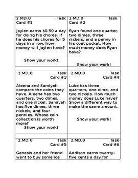 2.MD.8 Task Cards