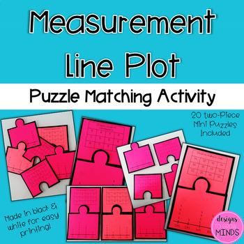 2.MD.9 Puzzle Matching Activity- Measurement Line Plots
