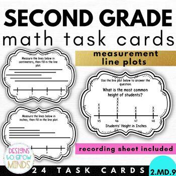 2.MD.9 Task Cards- Measurement Line Plots