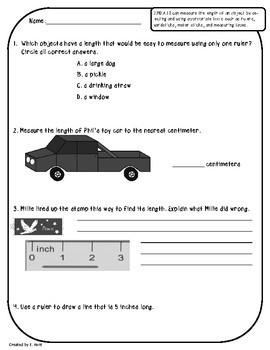 2.MD.A.1 Assessments - Measuring Length