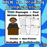 2 Martin Luther King Reading Comprehension Passages: Paired Text + 2 Audiobooks