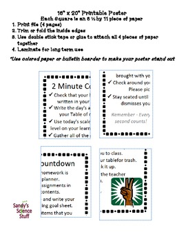 "2 Minute Countdown (16""x20"") Printable Poster"