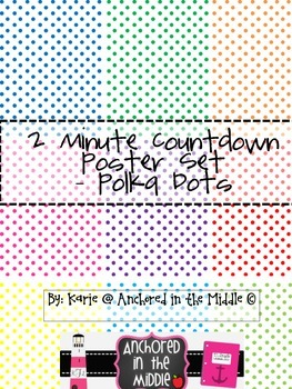 2 Minute Countdown Poster Set - Polka Dots