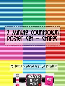 2 Minute Countdown Poster Set - Stripes