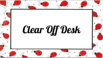 2 Minute Dismissal Checklist