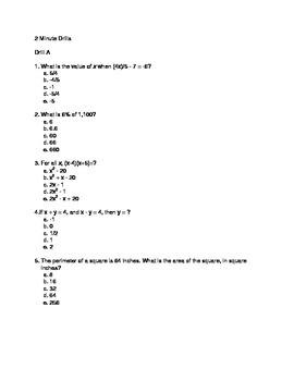 ACT Prep 2-Minute Drills Set 2