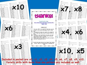 2-Minute Math Drills Bundle