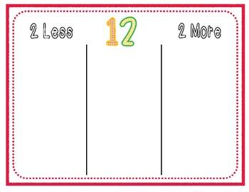 2 More/2 Less Math Mats
