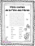 2 Mots cachés de la Fête des Mères : 2 Mother's Day word searches