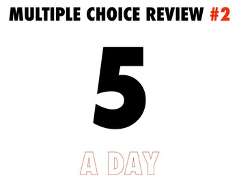 #2 Multiple Choice Review Global History 50 Questions with KEY 5 A DAY APPROACH